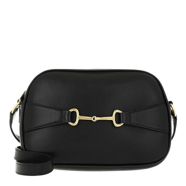 Handtasche, Celine, Crécy Camera Bag Shiny Lambskin Black