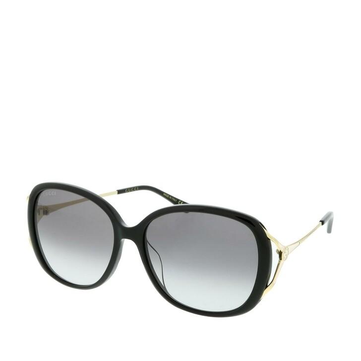 Sonnenbrille, Gucci, GG0649SK-001 58 Sunglasses Black-Gold-Grey