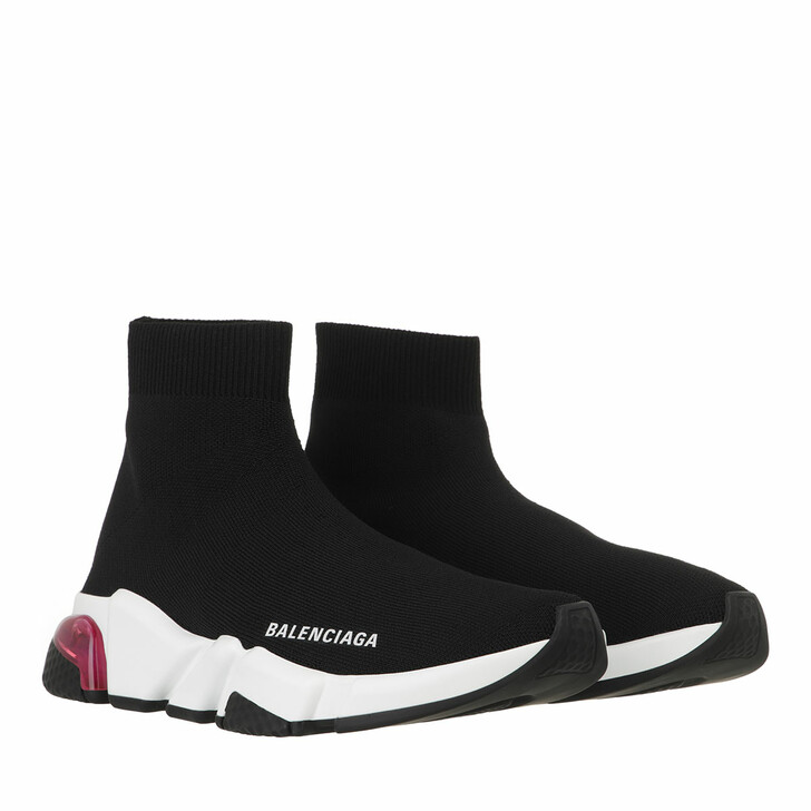 shoes, Balenciaga, Speed Sneakers Clearsole Black/White/Pink