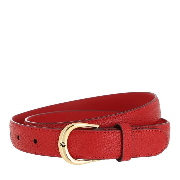 Gürtel, Lauren Ralph Lauren, Kenton 25 Belt Skinny  Red Navy
