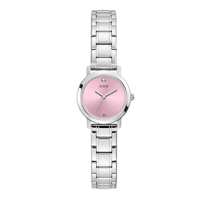 Uhr, Guess, Ladies Dress Stainless Steel Watch Silver Tone