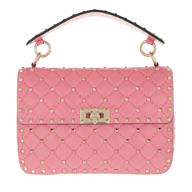 bags, Valentino Garavani, Rockstud Spike Crossbody Bag Flamingo Pink