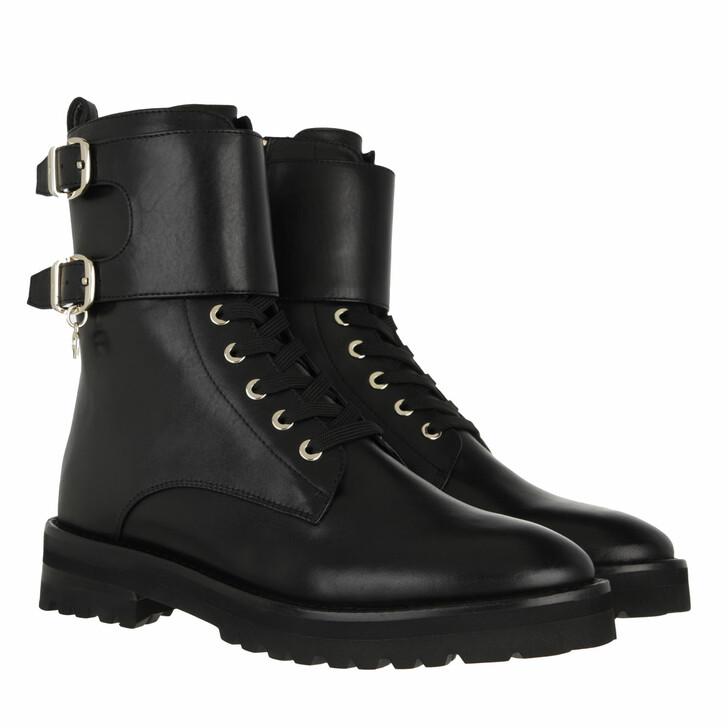 shoes, AIGNER, Bootie Black