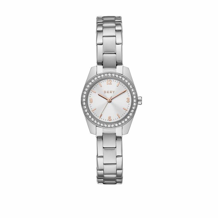 Uhr, DKNY, Nolita Three-Hand Stainless Steel Watch Silver