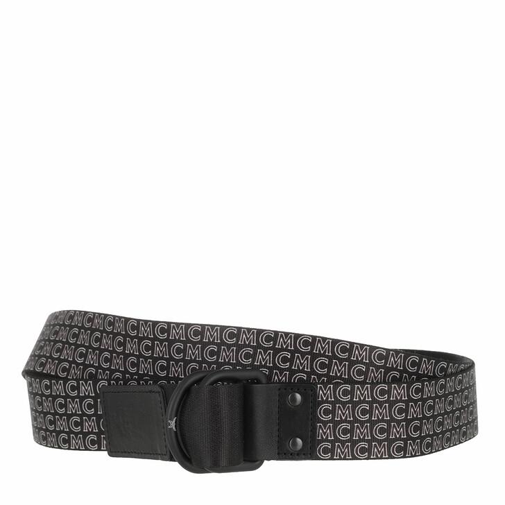 Gürtel, MCM, D Ring Webbing Belt Black
