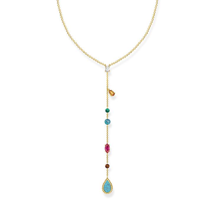 necklaces, Thomas Sabo, Necklace Riviera Gold Colours