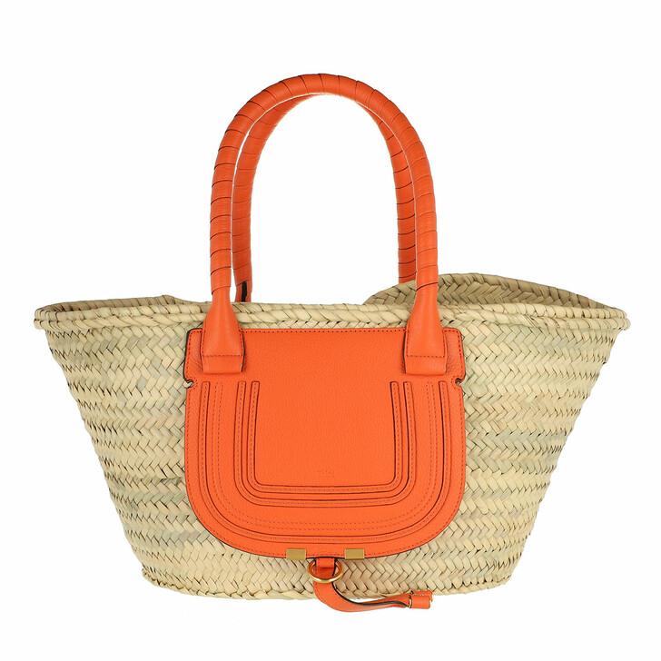 bags, Chloé, Marcie Carryall Basket Bag Calfskin Arancione