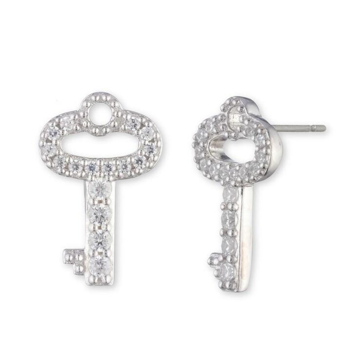 Ohrring, Lauren Ralph Lauren, Earrings Key Stud Silver/Crystal