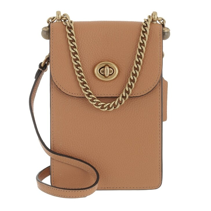 Smartphone/Tablet case (Bag), Coach, Polished Pebble Leather Liv Phone Crossbody B4/Natural