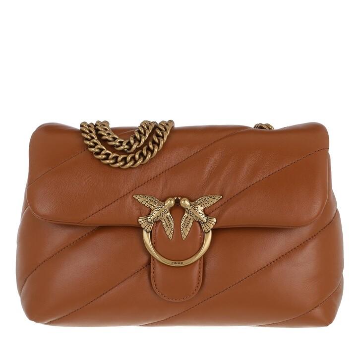 Handtasche, Pinko, Love Classic Puff Maxi Quilt 3 Crossbody Cognac