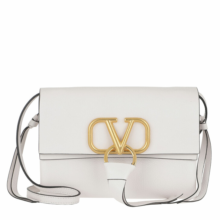 Handtasche, Valentino Garavani, Vring Crossbody Bag Leather White