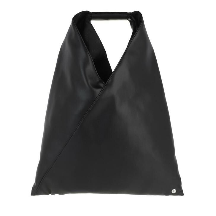 Handtasche, MM6 Maison Margiela, Small Japanese Hobo Bag Nappa Black
