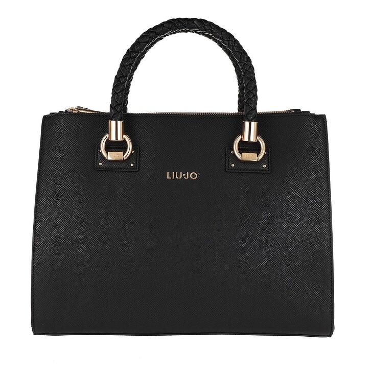 Handtasche, LIU JO, Medium SatcheLarge Double Zip Nero