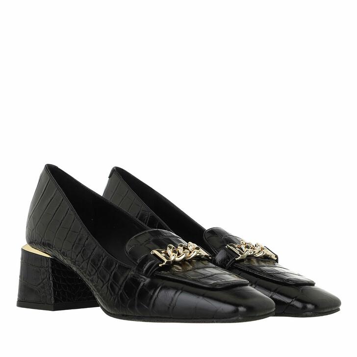 shoes, AIGNER, Loafer Black