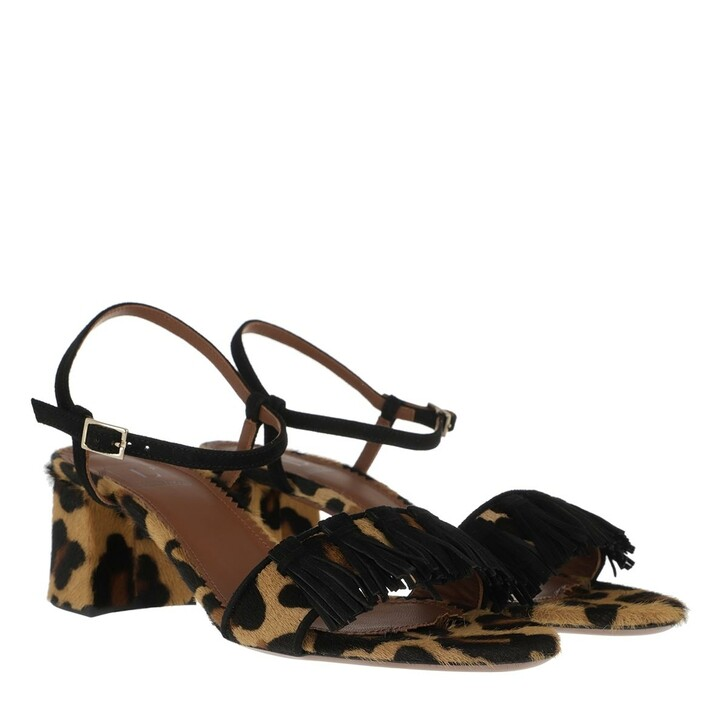 Schuh, L´Autre Chose, Heel Horsy Sued Camel Black