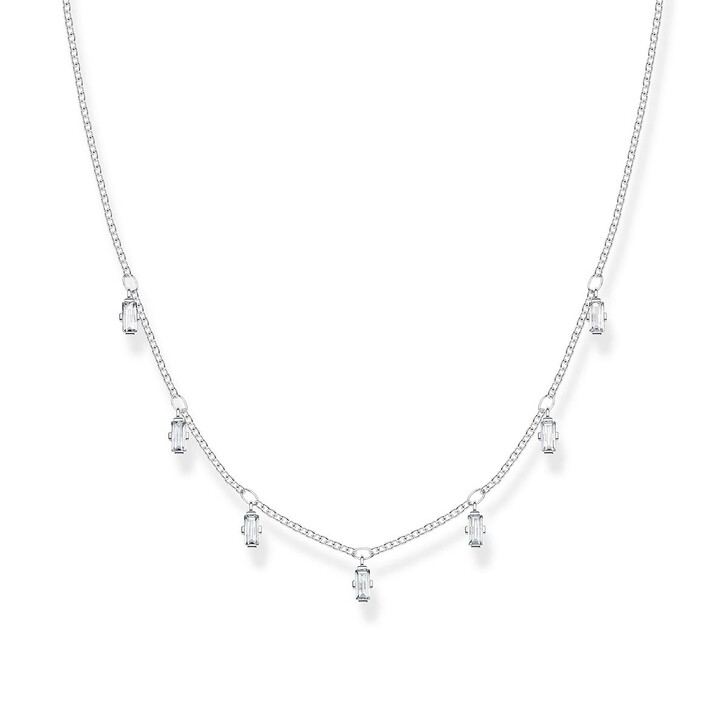 Kette, Thomas Sabo, Necklace Baguette Silver