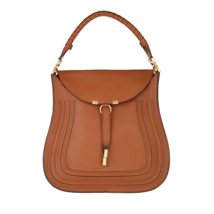 bags, Chloé, Marcie Hobo Bag Leather Tan