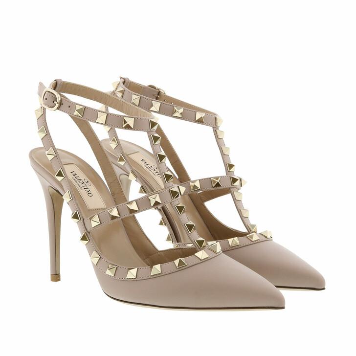 Schuh, Valentino Garavani, Rockstud Ankle Strap Pump Poudre