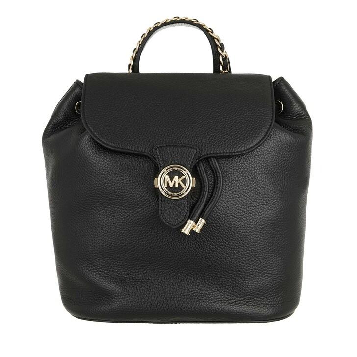 bags, MICHAEL Michael Kors, Large Drawstring Backpack Black