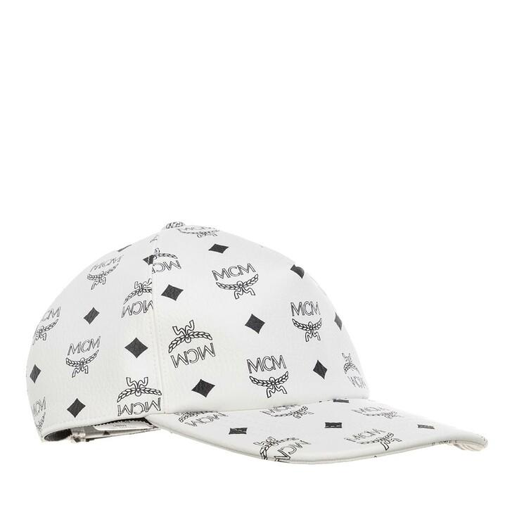 Mütze, MCM, Full Visetos Cap White