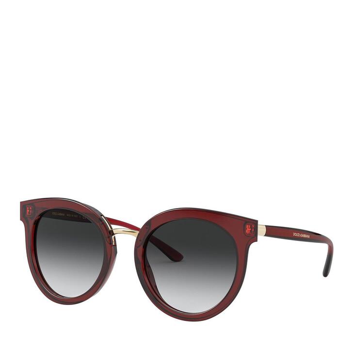 Sonnenbrille, Dolce&Gabbana, 0DG4371 Transparent Red