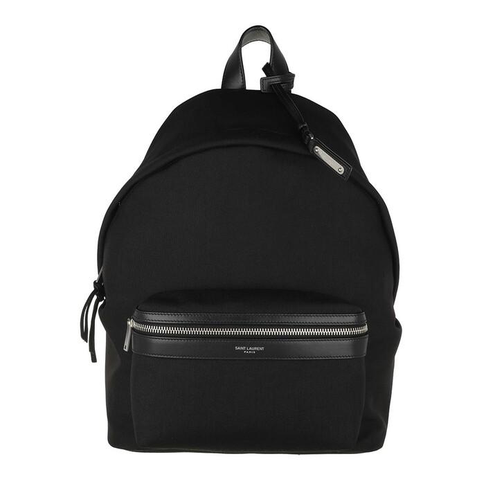 bags, Saint Laurent, City Mini Backpack Canvas Black