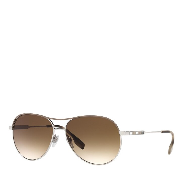 Sonnenbrille, Burberry, 0BE3122 SILVER/BLACK