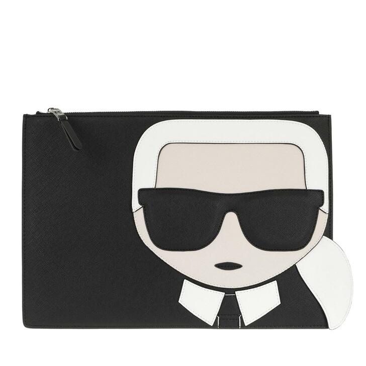 Handtasche, Karl Lagerfeld, K/Ikonik Pouch  Black