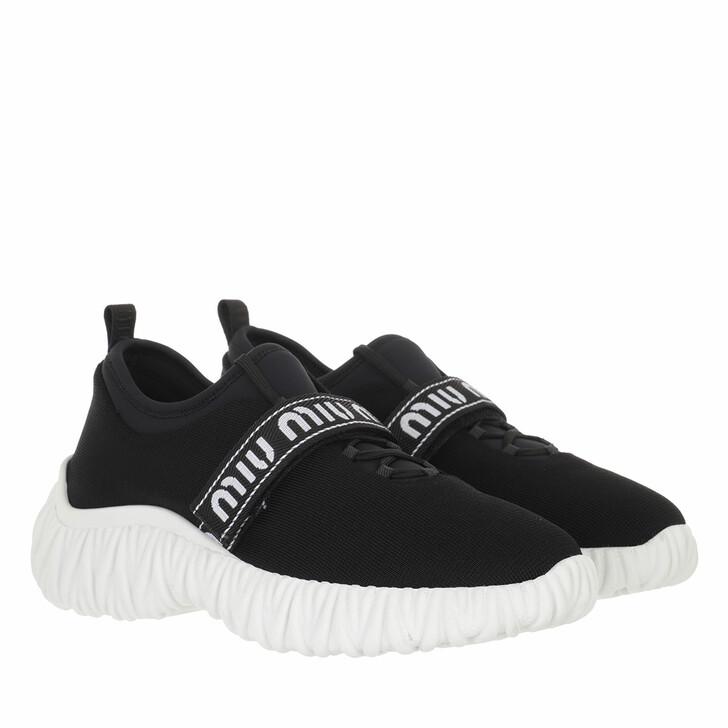 shoes, Miu Miu, Stretch Knit Sneaker Black