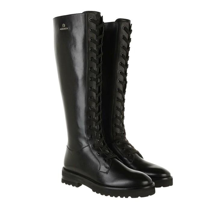 shoes, AIGNER, Boot Black