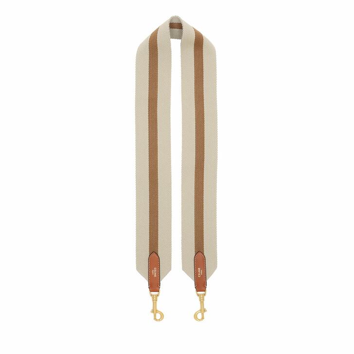 Bag Straps, Celine, Long Bag Strap Calfskin Natural/Tan