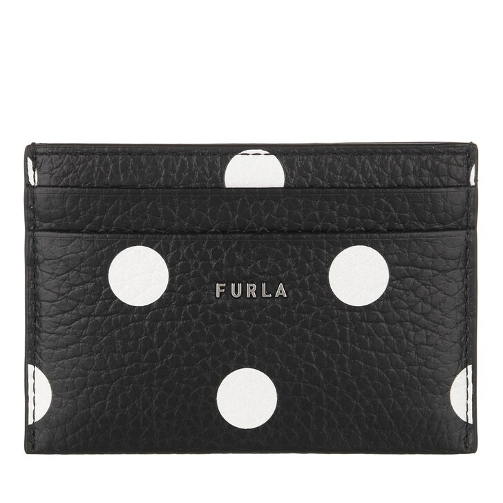 Geldbörse, Furla, Furla Babylon S Card Case - Vitello St.Eracle St.P Toni Nero