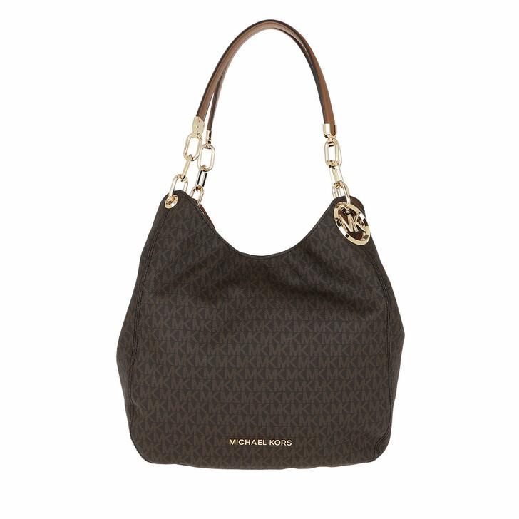 Handtasche, MICHAEL Michael Kors, Lillie Large Chain Shoulder Tote Brown/Acorn