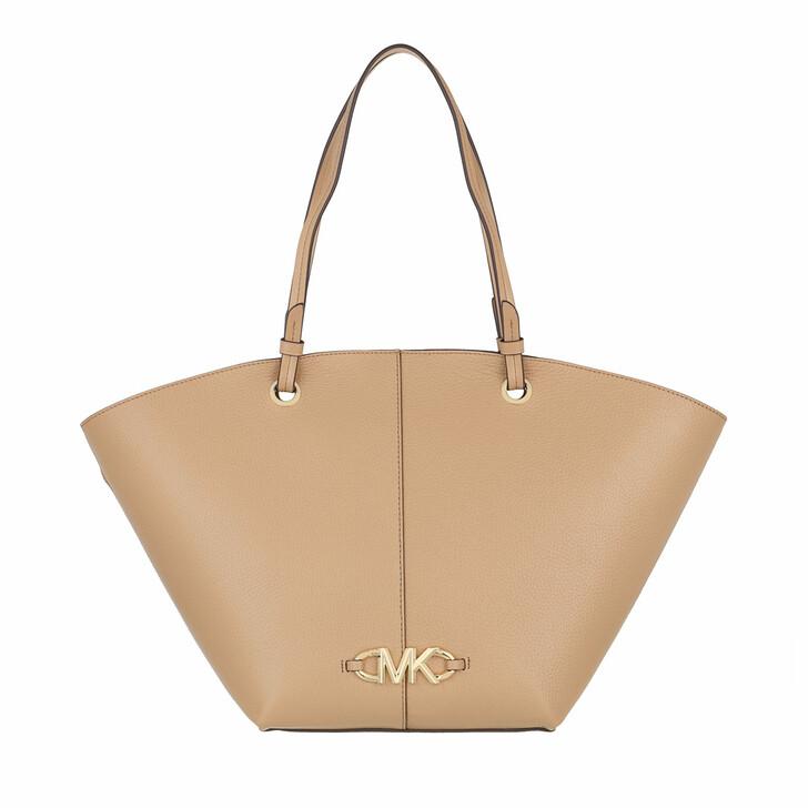 bags, MICHAEL Michael Kors, Izzy Medium Fan Tote Camel