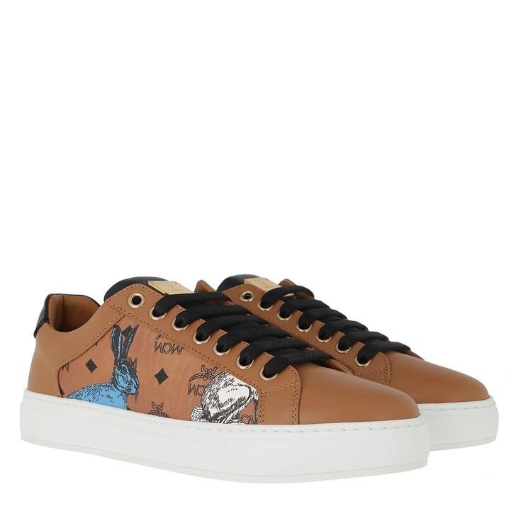 shoes, MCM, Hide And Seek Rabbit Sneakers Cognac
