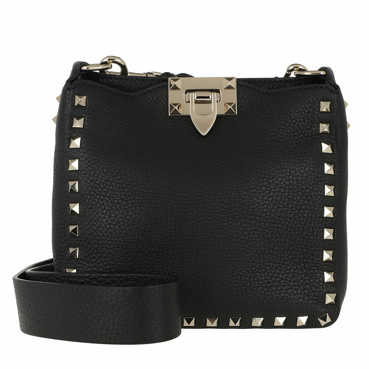 Handtasche, Valentino Garavani, Rockstud Hobo Bag Black