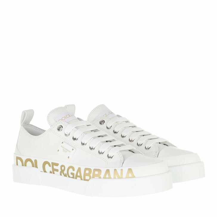 shoes, Dolce&Gabbana, Portofino Light Sneakers Calfskin White