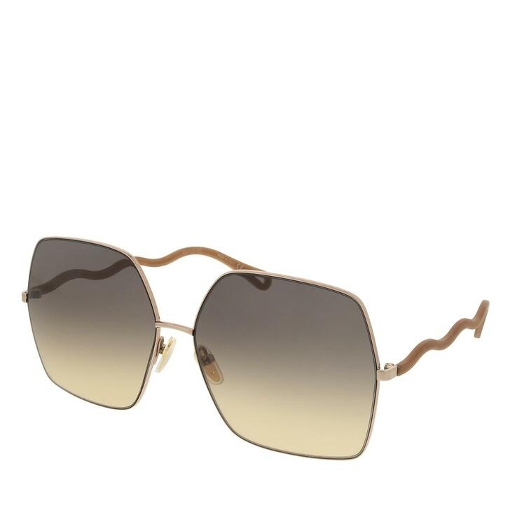 sunglasses, Chloé, CH0054S-002 64 Sunglass Woman Metal Beige-Brown-Brown