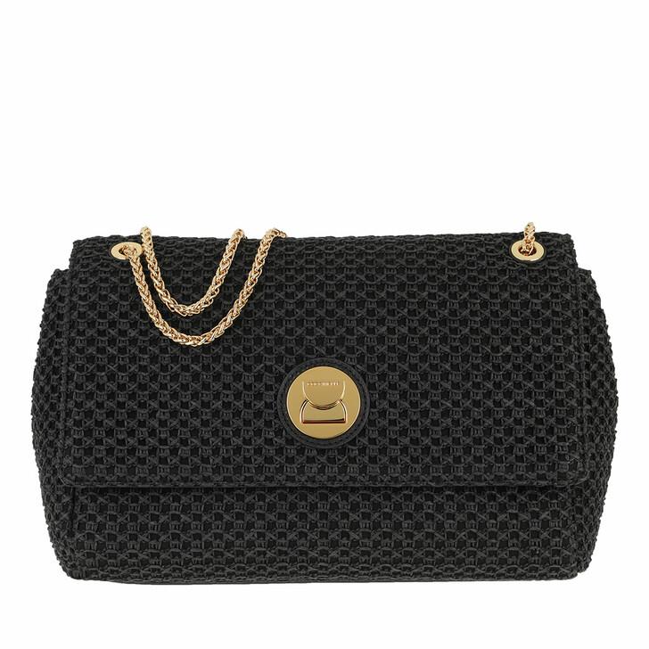 Handtasche, Coccinelle, Liya Paglia Rete Crossbody Bag Noir