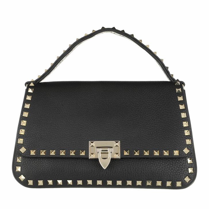 Handtasche, Valentino Garavani, Rockstud Crossbody Bag Leather Black