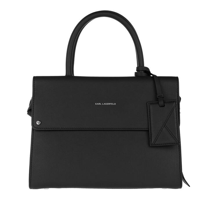 Handtasche, Karl Lagerfeld, K/Ikon Mini Top Handle  Black
