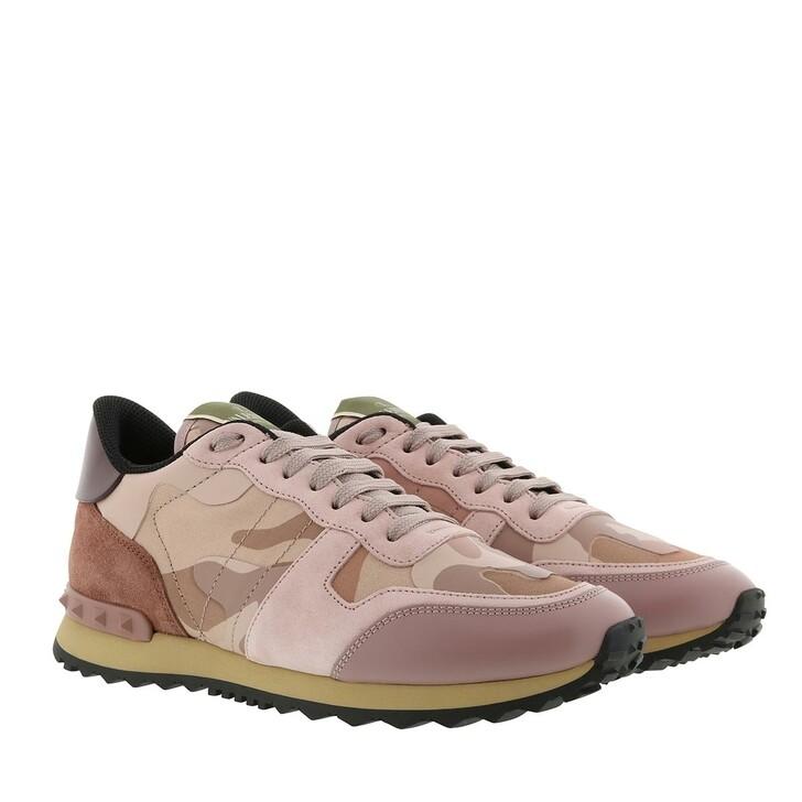 Schuh, Valentino Garavani, Camouflage Sneakers Poudre Multicolor