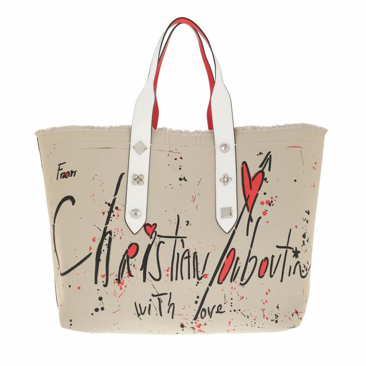 bags, Christian Louboutin, Frangibus Tote Bag Leather Beige/Multi