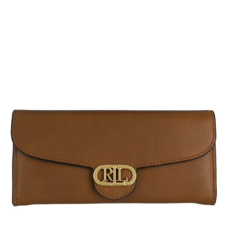 wallets, Lauren Ralph Lauren, Logo Cont Wallet Large Lauren Tan