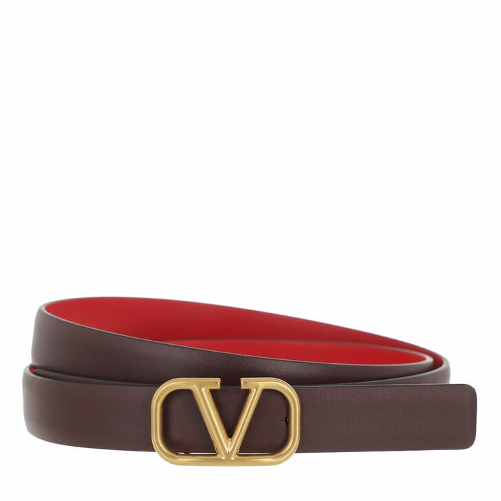 belts, Valentino Garavani, V Logo Belt Calfskin Multicolor