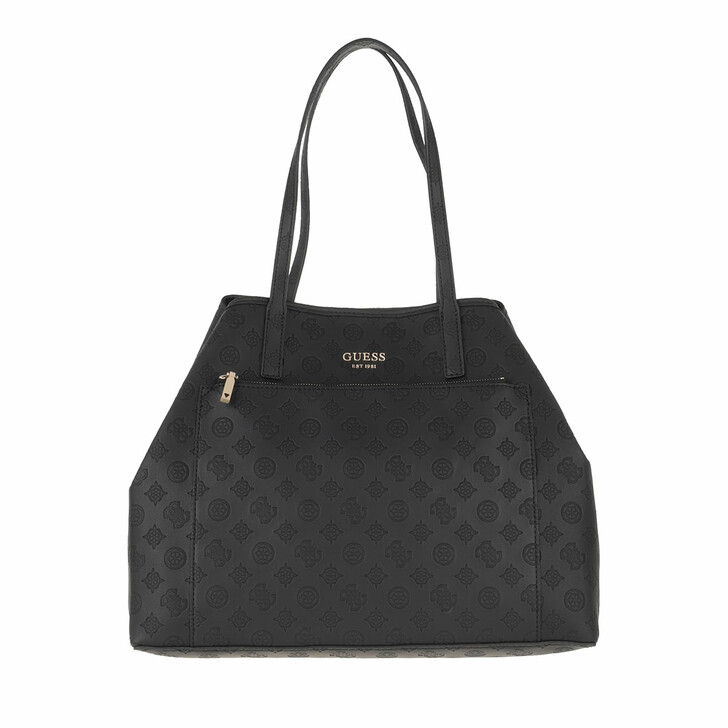 bags, Guess, Vikky Large Roo Tote Black