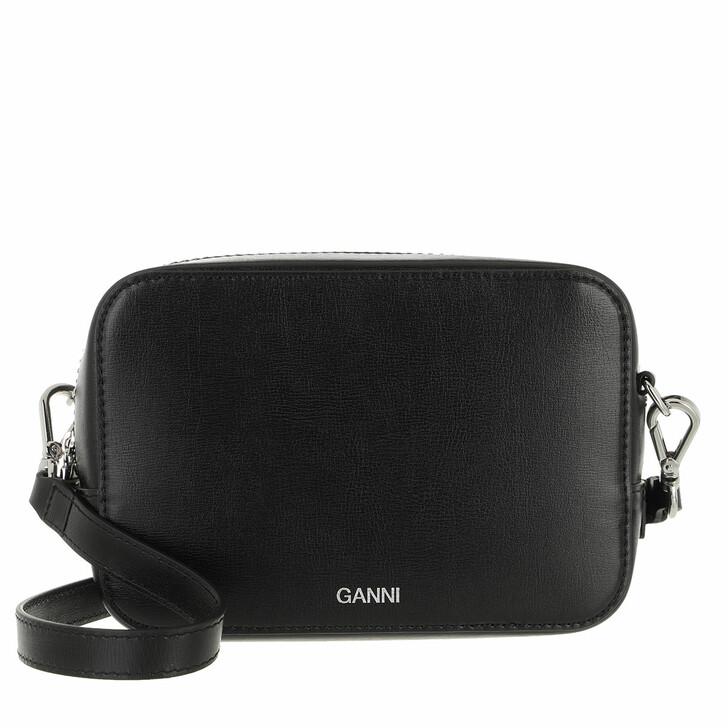 Handtasche, GANNI, Crossbody Recycled Leather Black