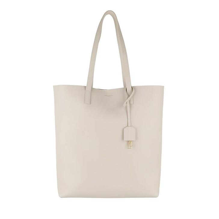Handtasche, Saint Laurent, North South Tote Leather Crema