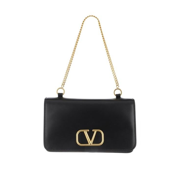 Handtasche, Valentino, Medium Pouch Leather Black