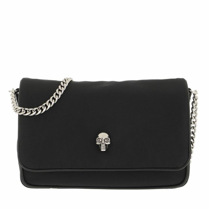 bags, Alexander McQueen, Small Skull Crossbody Bag Black